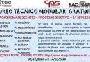 Processo especial para seleção de candidatos a vagas remanescentes cursos técnicos modulares