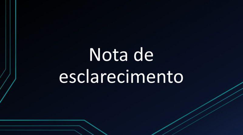 NOTA OFICIAL AOS ALUNOS, PAIS E RESPONSÁVEIS