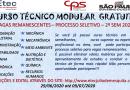 Processo especial para seleção de candidatos a vagas remanescentes cursos técnicos modulares – 2º semestre 2020